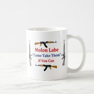 Molon Labe: Venido tómelos: Si usted puede Taza Clásica