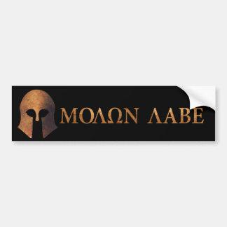 Molon Labe (venido y consígalo) Etiqueta De Parachoque