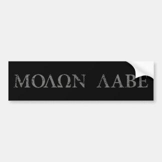 Molon Labe (venido y consígalo) Pegatina Para Auto