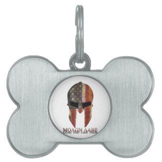 Molon Labe - venido y les toma los E.E.U.U. espart Placas Mascota