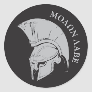 Molon Labe vers02 rund decal sticker