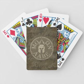 Molon Labe, viene tomarlos Baraja Cartas De Poker