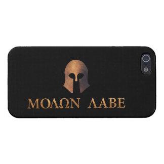 Molon Labe, viene tomarlos iPhone 5 Carcasas