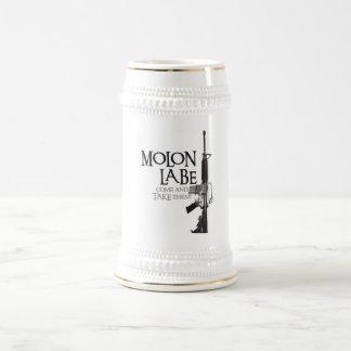 Molon Labe viene tomarlos Jarra De Cerveza