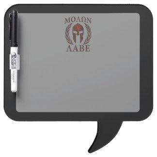 Molon Labe Warrior Laurels Iron Mask Dry-Erase Board