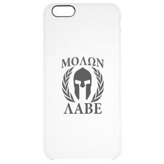 Molon Labe Warrior Laurels on Black Carbon Uncommon Clearly™ Deflector iPhone 6 Plus Case