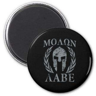 Molon Labe Warrior Mask Laurels on Black Magnet