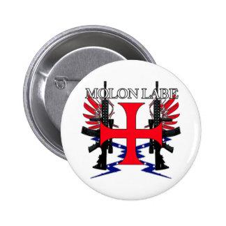Molon Label Cross Button