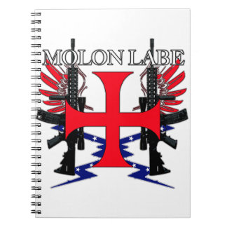 Molon Label Cross Notebook