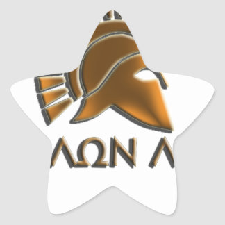 Molon lave-Spartan warrior-lithos font Star Sticker