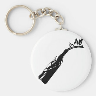Molotov coctail keychains