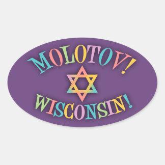 Molotov, Wisconsin! Oval Sticker