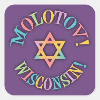 Molotov, Wisconsin! Square Sticker