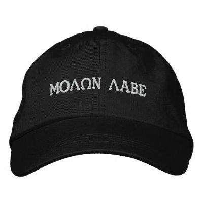 MOLQN LABE EMBROIDERED BASEBALL CAP