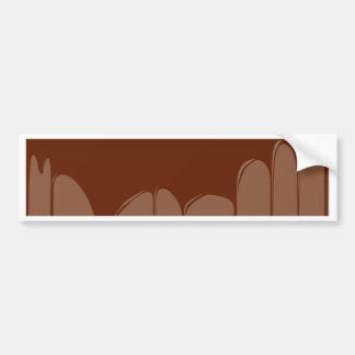 Molten Chocolate Background Bumper Sticker