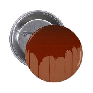 Molten Chocolate Background Pinback Button