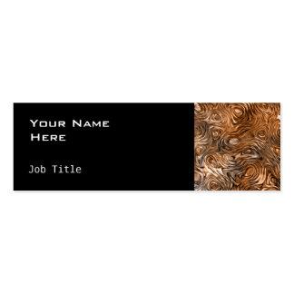 "Molten ""Copper"" business card side skinny black"