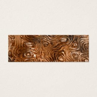 """Molten """"Copper"""" print business card skinny cream"""