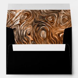 "Molten ""Copper"" print envelope A7 black"