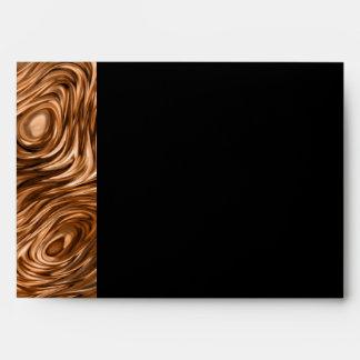 """Molten """"Copper""""print envelope A7 side stripe black"""
