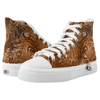 "Molten ""Copper"" print high top shoes"