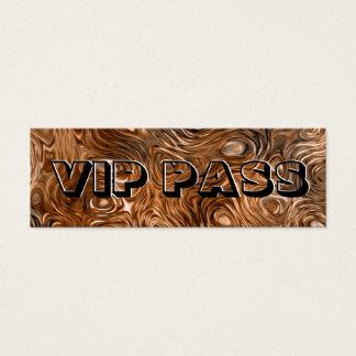 """Molten """"Copper"""" print 'VIP PASS' skinny black Mini Business Card"""