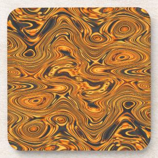 Molten Fire Swirls Drink Coaster