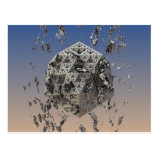 """""""Molten"""" futuristic 3D fractal abstract art Postcard"""