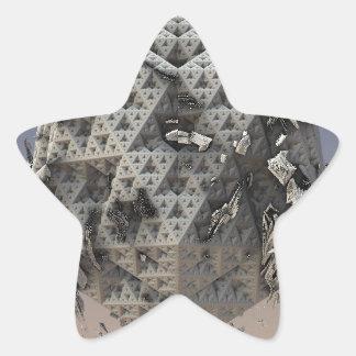 """""""Molten"""" futuristic 3D fractal abstract art Star Sticker"""