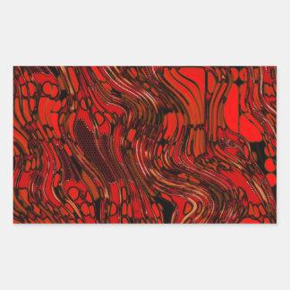 Molten Glass Rectangular Sticker