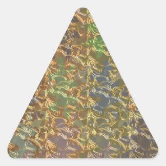 Molten Gold   BREAKER 3d cooler color floral wave Triangle Sticker