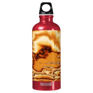 Molten Gold Clouds Aluminum Water Bottle