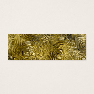 """Molten """"Gold"""" print business card skinny white"""