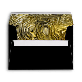 "Molten ""Gold"" print envelope A7 black"