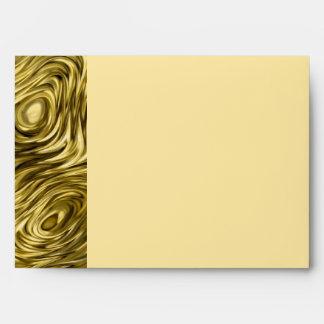 """Molten """"Gold"""" print envelope A7 side stripe ceam"""