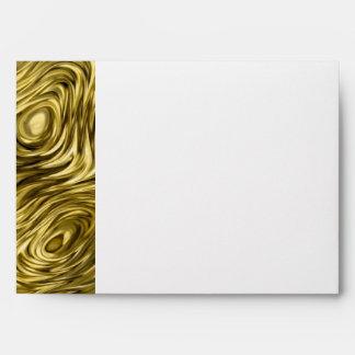 """Molten """"Gold"""" print envelope A7 side stripe white"""