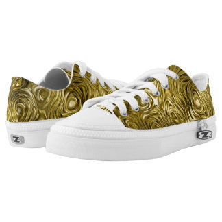 "Molten ""Gold"" print low top shoes"