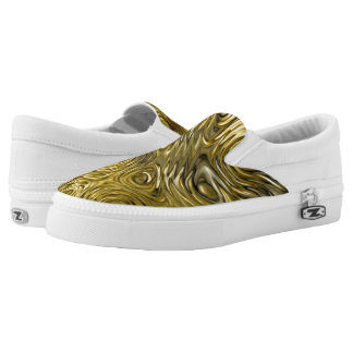"Molten ""Gold"" print slip on shoes"