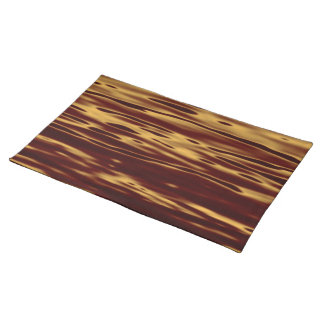 Molten Gold Ripple Effect Cloth Placemat