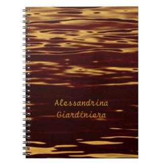 Molten Gold Ripple Effect Customizable Notebooks