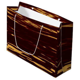 Molten Gold Ripple Effect Large Gift Bag