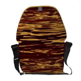 Molten Gold Ripple Effect Messenger Bag