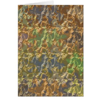 Molten Gold Strands in Rare Earth Color Collection zazzle_card