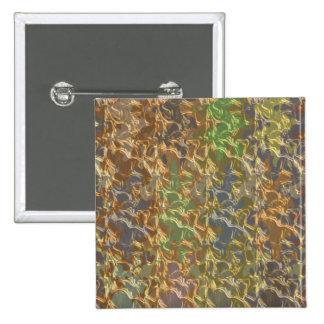 Molten Gold Strands in Rare Earth Color Collection Pinback Button