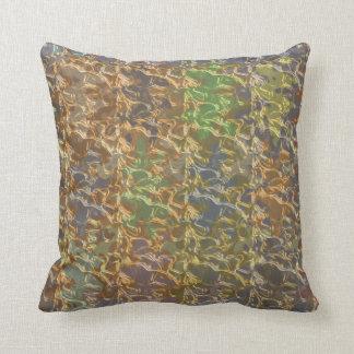 Molten Gold Strands in Rare Earth Color Collection Throw Pillow