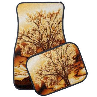 Molten Gold Tree of Life Car Mats Floor Mat