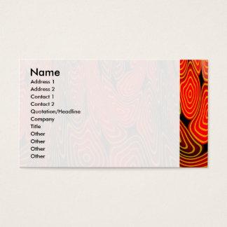 Molten lava business card