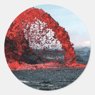 Molten Lava Round Stickers