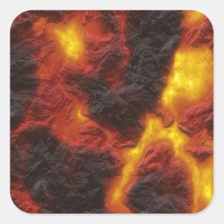Molten Lava Square Sticker