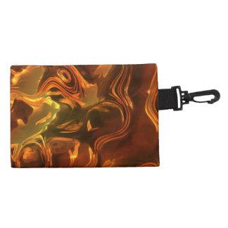 Molten Metal Abstract Art Design Clip-on Bag Accessory Bags